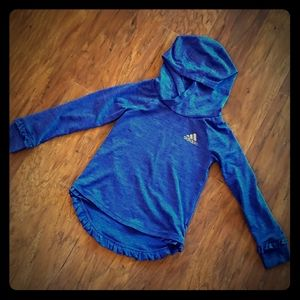 Adidas ruffle hoodie